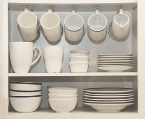 organized cupboard